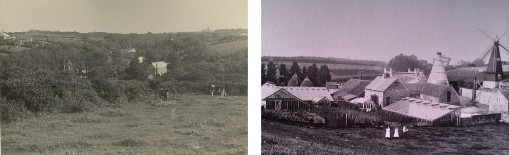 St Saviours valley before Reservoir was formed & Brickfield site before quarry